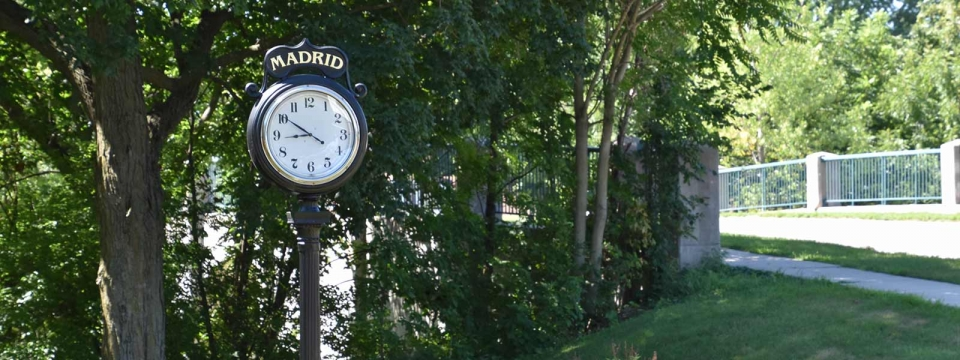 Clock in Jensen Park